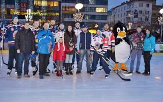 Exhibice hokejistů HC VÍTKOVICE STEEL - vítězové soutěže Open Air 2015