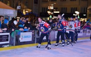 Exhibice hokejistů HC VÍTKOVICE STEEL - poděkování divákům